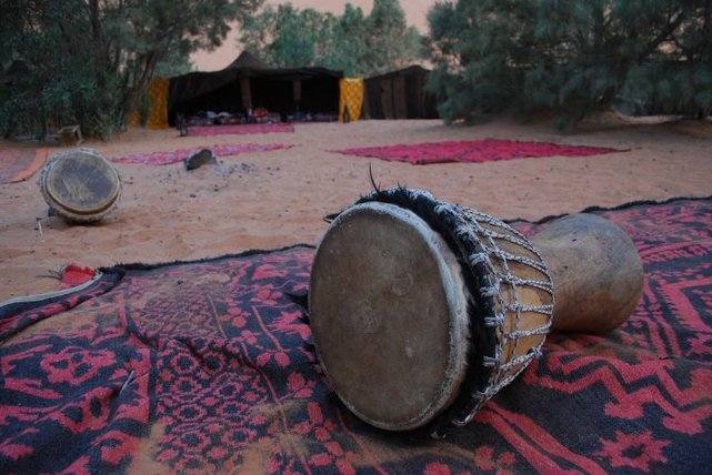 drums in sahara desert